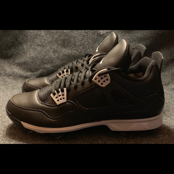 32ea4d52078 Nike Air Jordan IV 4 Retro Baseball Cleats Oreo